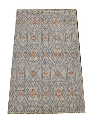 5X8 Silver Modern Area Rug HandKnotted Wool Carpet
