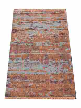 6X8 Modern Area Rug HandKnotted Contemporary Wool