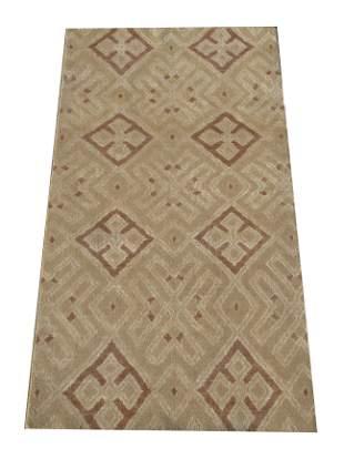 5X8 Modern Geometric Brown Area Rug HandKnotted Wool