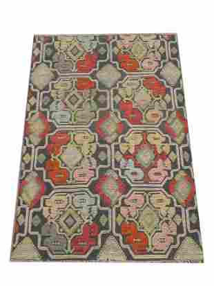 8X10 Multicolored High Low Area Rug HandKnotted Wool