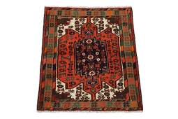 4X5 Antique Persian Sarab Hand-Knotted 1940's Wool Rug