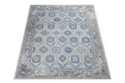 8X10 Khotan Hand-Knotted Wool Area Rug Beige Oriental