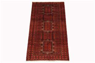 4X7 Tribal Persian Area Rug Hand-Knotted Wool Carpet