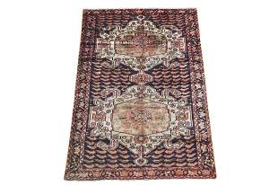 5X8 Antique Persian Area Rug, Circa 1940