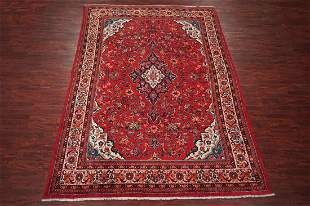 10X13 Antique Persian Mahal Hand-Knotted Wool Rug