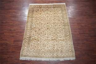 Fine 7X10 Vintage Persian Kashan Hand-Knotted Rug