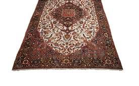 Vintage 16X26 Persian Heriz Serapi Hand-Knotted Rug