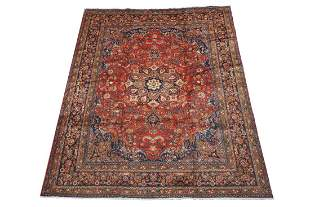 10X12 Antique Persian Mashad Area Rug, Circa 1940