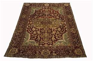 12X14 Antique Agra Area Rug, circa 1880