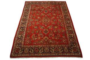 Persian 13X16 Antique Sarouk Area Rug, circa 1920