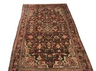 Antique 11X18 Persian Mahal Rug Hand-Knotted Wool