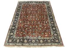 7X9 Fine Antique Area Rug Hand-Knotted Persian Kashan