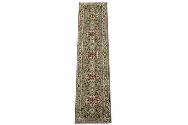 3X14 Persian Heriz Serapi Wool Runner Hand-Knotted Area