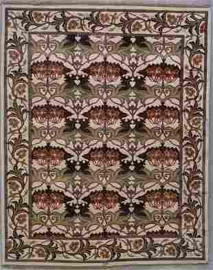 8x10 SIGNED WILLIAM MORRIS ART & CRAFT AREA RUG