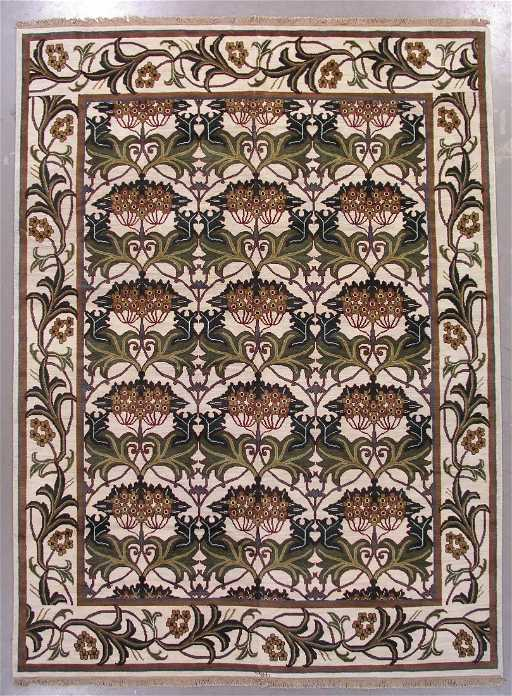 108 9x12 Signed William Morris Art Craft Area Rug