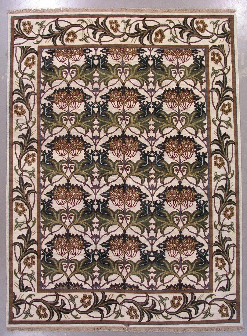 108: 9x12 SIGNED WILLIAM MORRIS ART & CRAFT AREA RUG