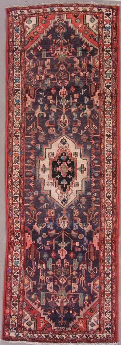 115: 10' ANTIQUE PERSIAN MALAYER RUNNER AREA RUG