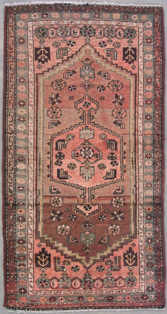 119: 6' ANTIQUE PERSIAN MALAYER RUNNER RUG WITH ABRASH