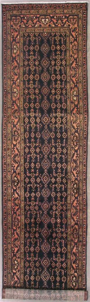 14' ANTIQUE PERSIAN MALAYER RUNNER AREA RUG