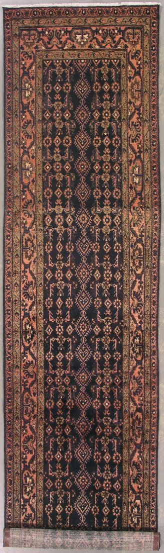 122: 14' ANTIQUE PERSIAN MALAYER RUNNER AREA RUG