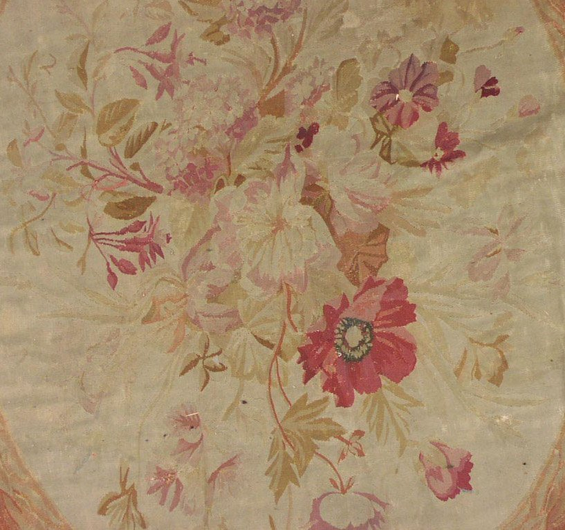 144: 19x22 SIGNED ANTIQUE 1890S FRENCH AUBUSSON RUG - 2