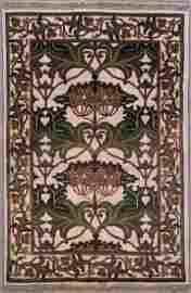 403: 4x6 SIGNED WILLIAM MORRIS ART & CRAFT DESIGN RUG