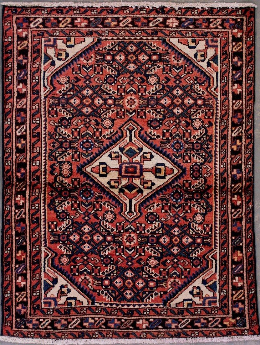 406: 4x5 ANTIQUE PERSIAN MALAYER AREA RUG