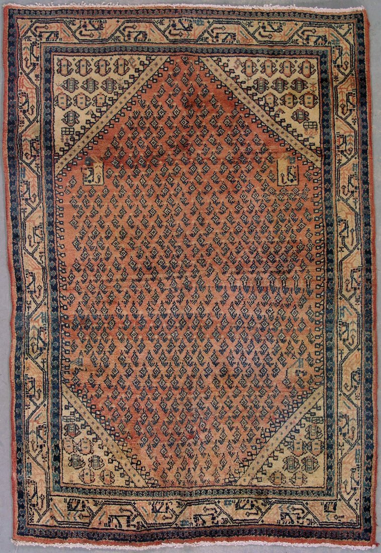412: 4x6 ANTIQUE PERSIAN PAISLY AREA RUG