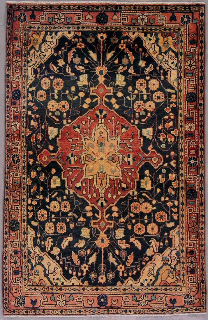 415: 4x6 ANTIQUE PERSIAN MALAYER AREA RUG