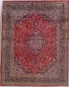 507: 10x13 PERSIAN KASHAN AREA RUG