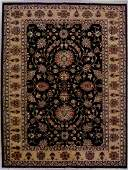 558: 9x12 PERSIAN KASHAN AREA RUG