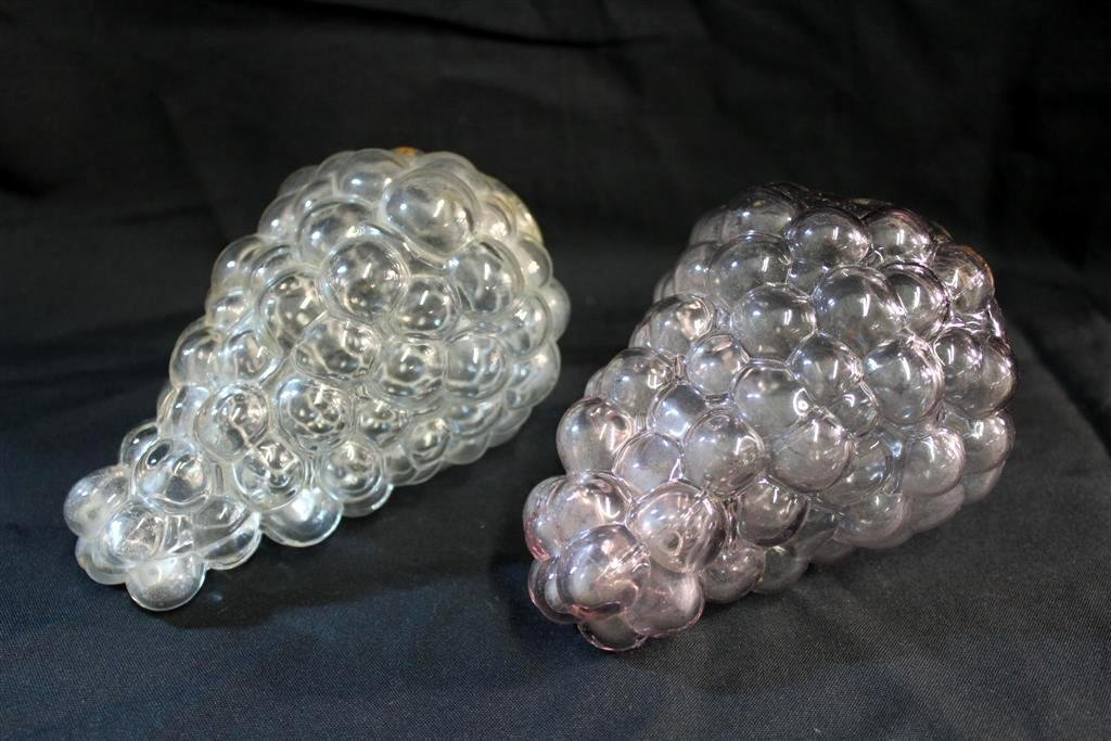 6: Pair of Blown Molded Glass Grape Clusters Kugel?