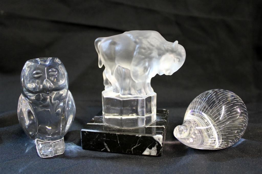 11: Three Crystal Glass Animal Figurines Kosta Goebel