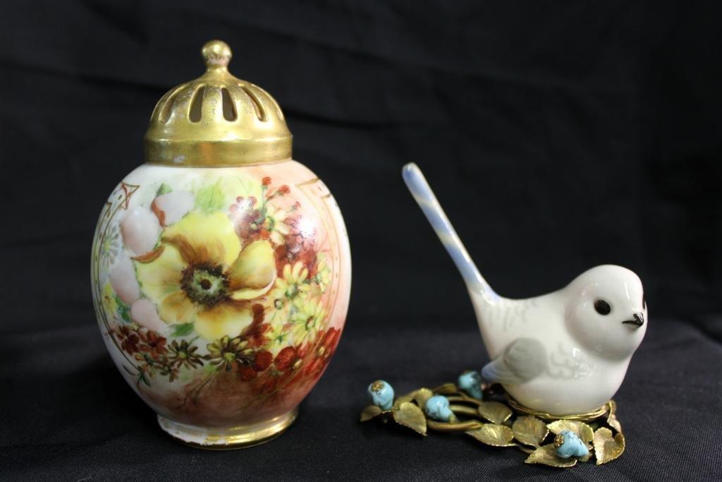 15: Redon Limoges Jar Lomonosov Russian Bird Figure