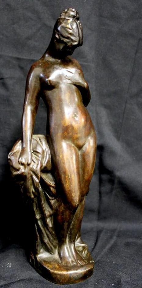 66: After Anders Zorn 1910 Nude Woman Bronze Figure