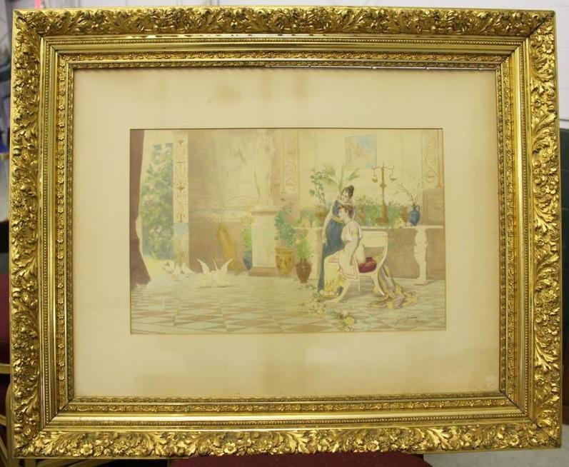 140: Stunning Edouardo Ettore Forti Signed Watercolor