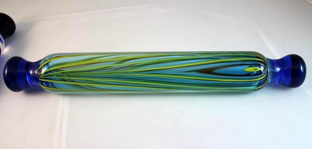 7: Murano style blown glass rolling pin