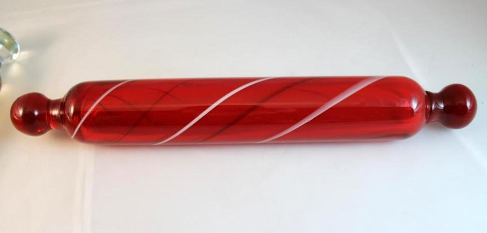 8: Murano style blown glass rolling pin