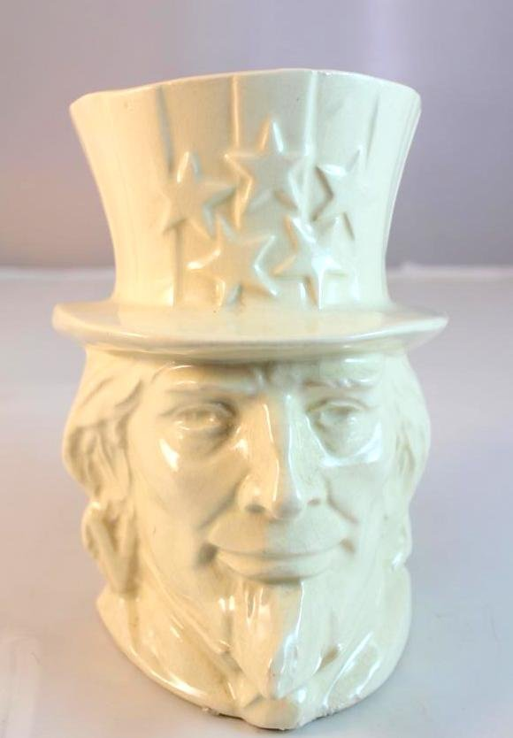 18: McCoy Uncle Sam 1940s Head Vase Planter