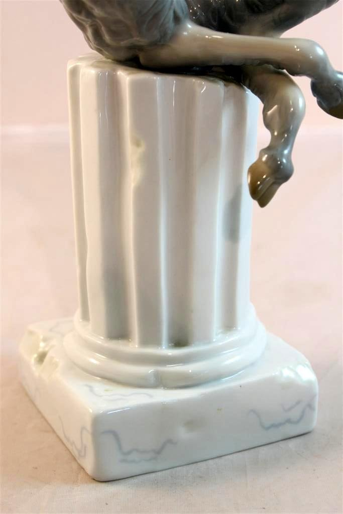 33: Lladro #1007 Retired 1960s Satyr Playing Pan Flute - 4