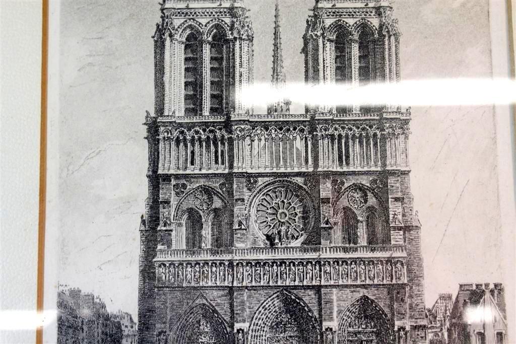 136: Leon Salles Original Etching Notre Dame De Paris F - 5