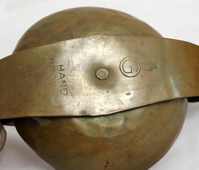 Arts & Crafts Hand Hammered Erhard Glander Copper Bowl - 3