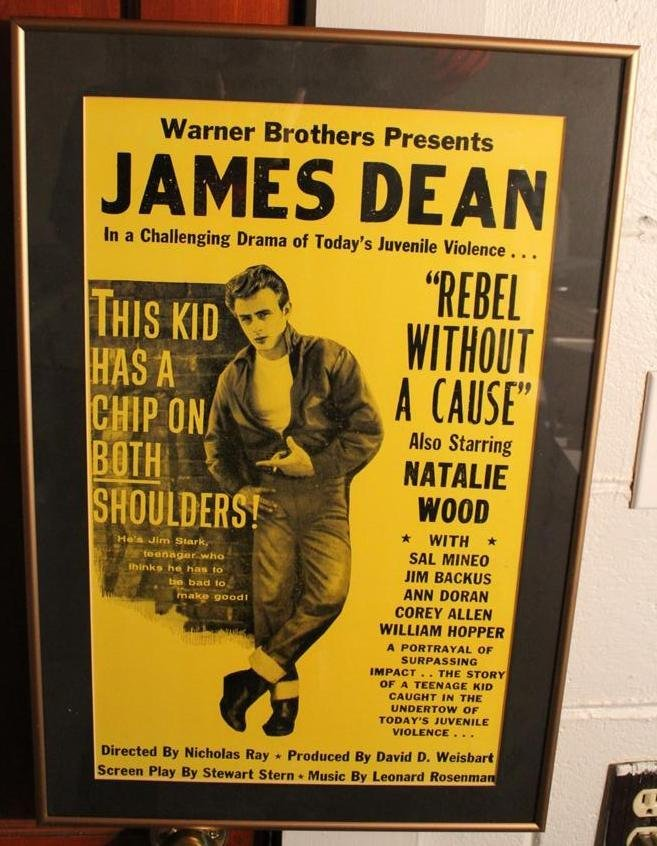 RARE James Dean Rebel Without a Cause Movie Poster