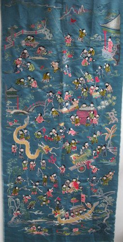 15: An Old Silk Embroidery