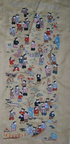 16: An Old Silk Embroidery