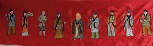 17: An Old Silk Embroidery