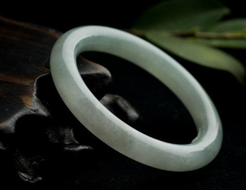 4: Chinese A Grade Icy Jadeite Bangle