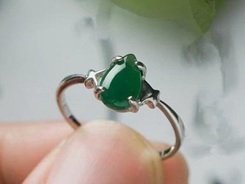 10: Chinese A Grade Icy Jadeite Ring