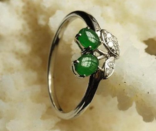 11: Chinese A Grade Icy Jadeite Ring