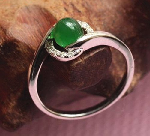 12: Chinese A Grade Icy Jadeite Ring